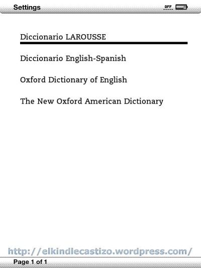 Selecciona tu Diccionario principal
