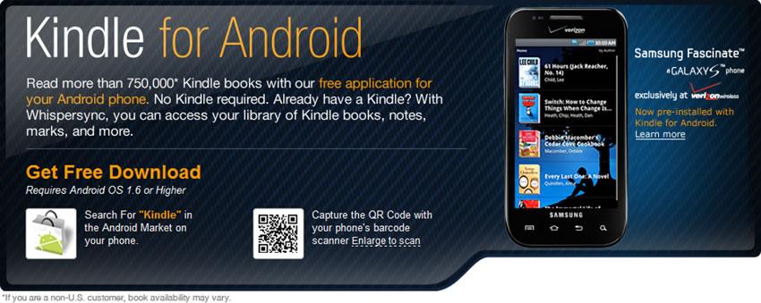 Kindle para Android v2.0